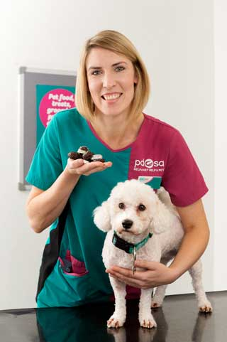 PDSA vet Hannah McIvor with Faith.