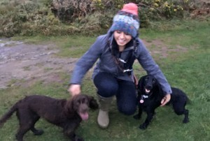 Jessica Worthington with her dogs Pippa and Molly.