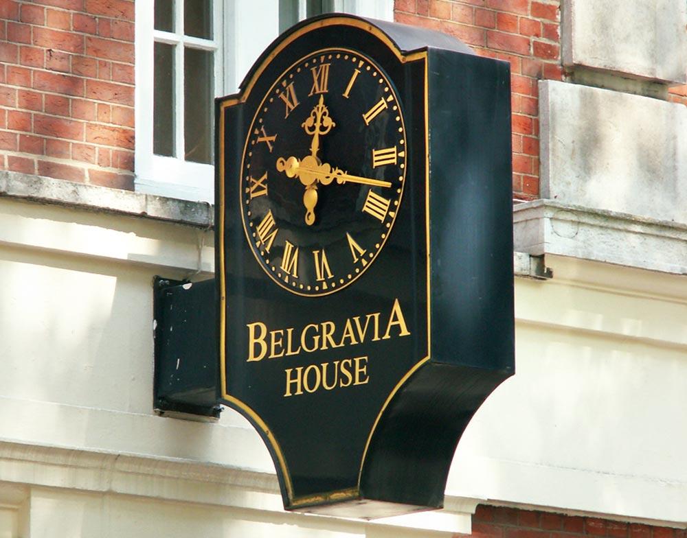 Belgravia house clock.