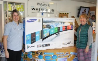 Hannah receives her TV