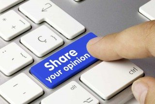 Share your opinion button