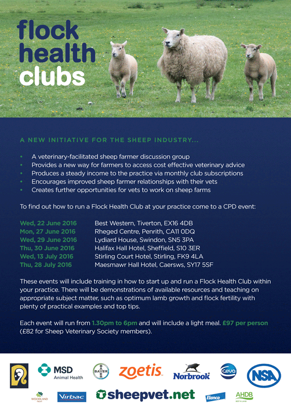 Flock Health Clubs flyer
