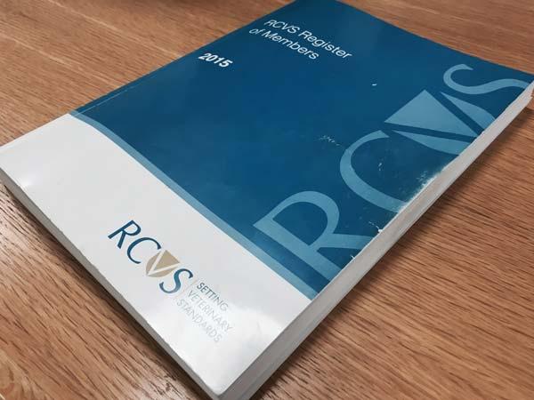 RCVS register 2015