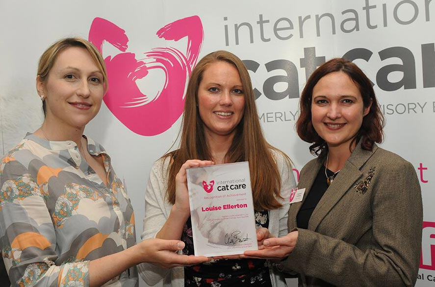 From left: Sam Taylor, certificate winner Louise Ellerton and Marianne Lomberg.