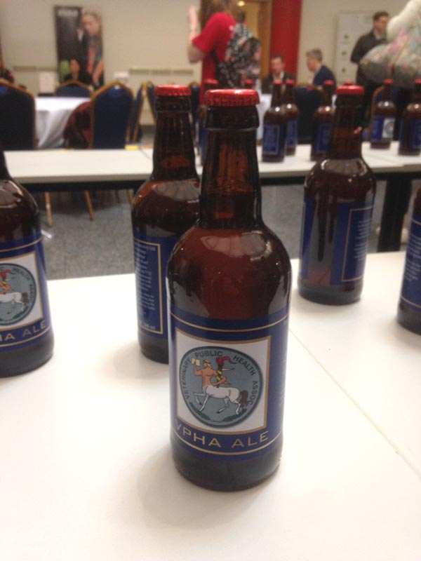 VPHA Ale: a clever ploy to entice students to chat to the the Veterinary Public Health Association.