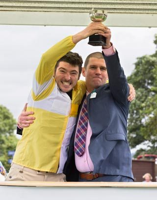 Douglas McRobbie with his trophy.