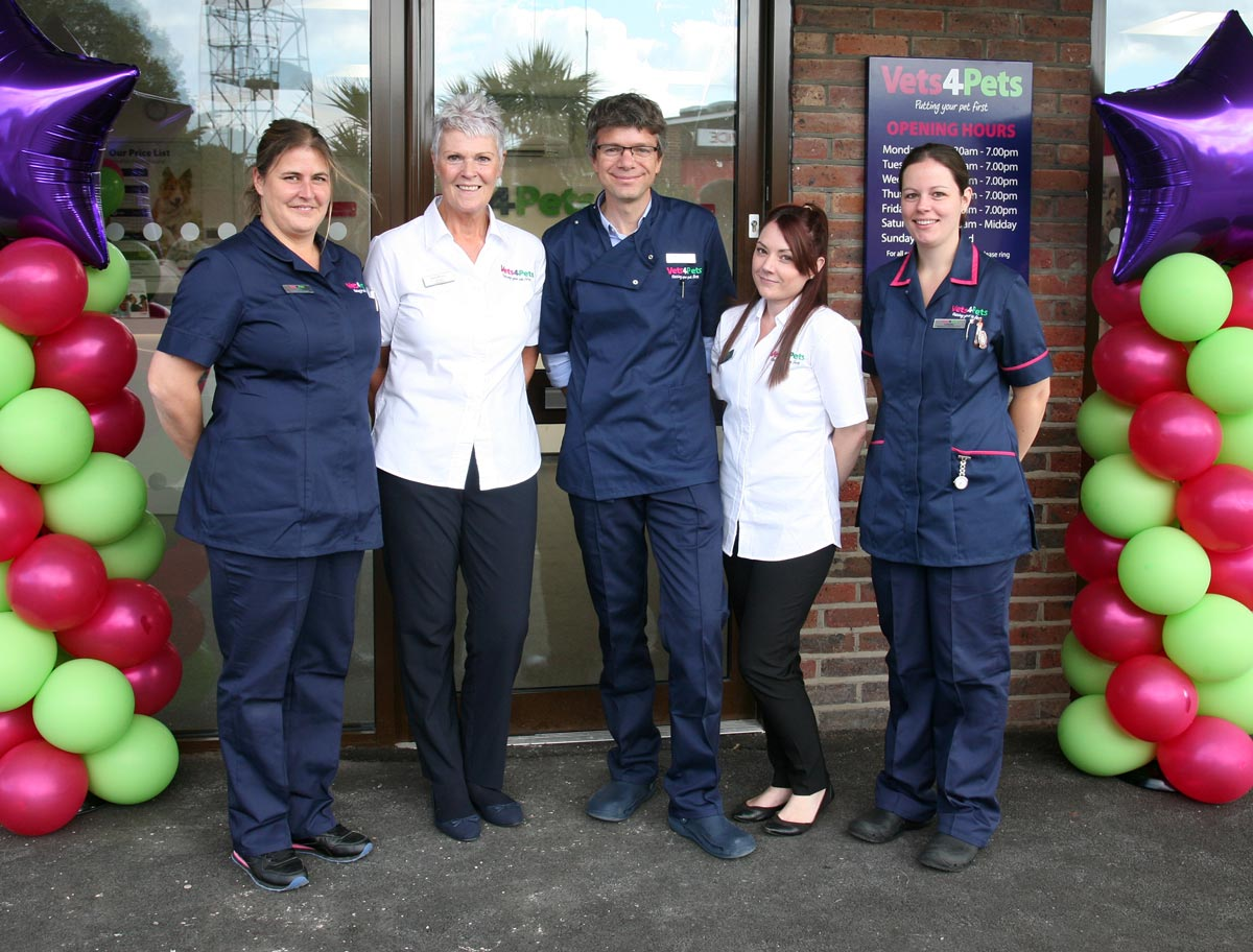The team at Vets4Pets Hayling Island