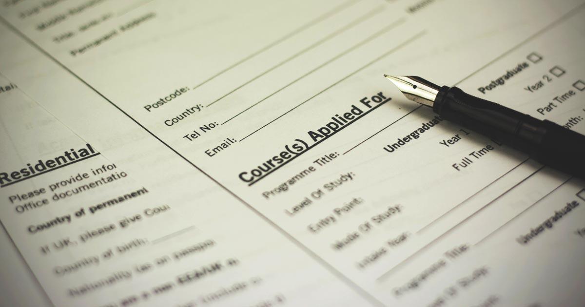 Uni application form