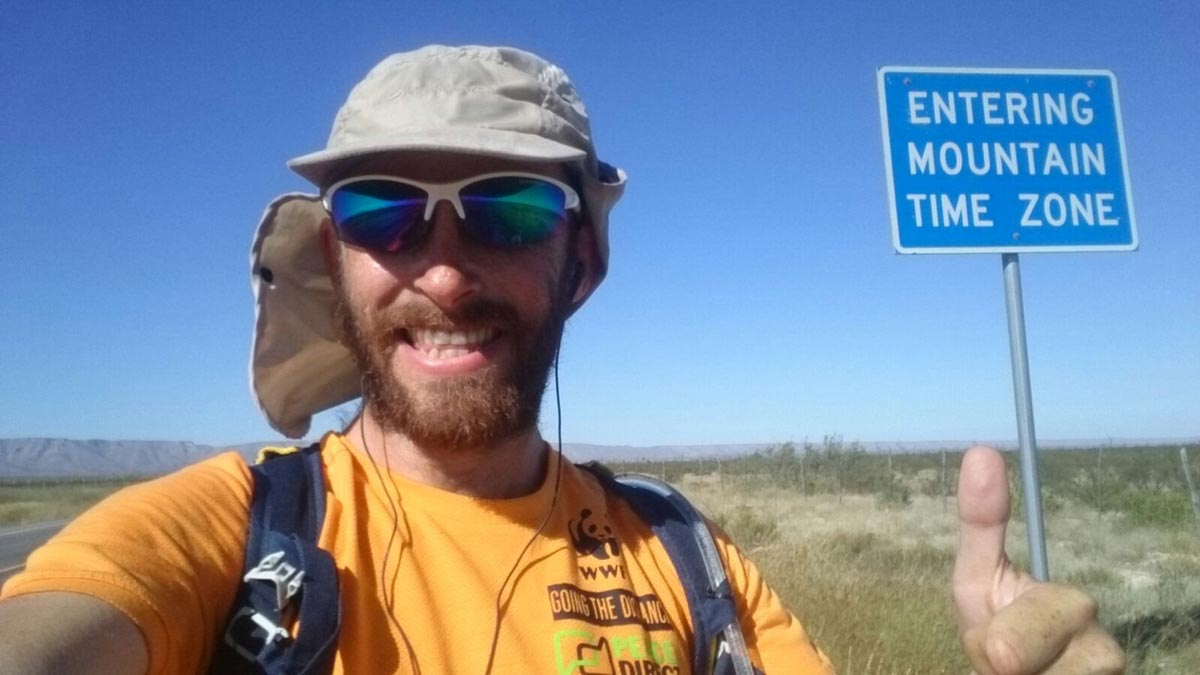 """Run, Forrest, run"": Rob Pope is aiming to run 84 marathons across the US and back."