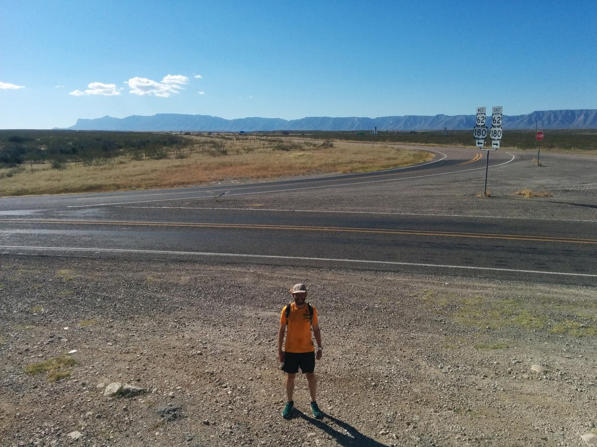 Rob got within 50m of the New Mexico border on foot, but turned left, toward El Paso.