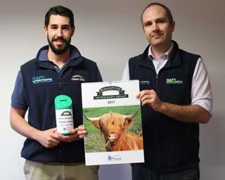Farm vet Dan King (left) and Phil Alcock, Bishopton Veterinary Group partner.