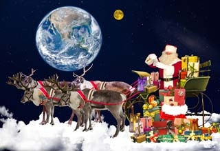 A seasonal reindeer depiction.