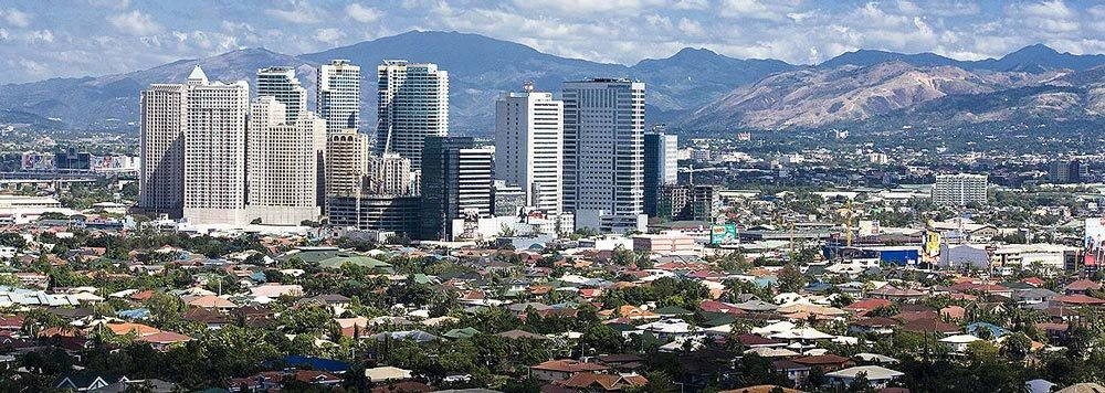 The Quezon City skyline.