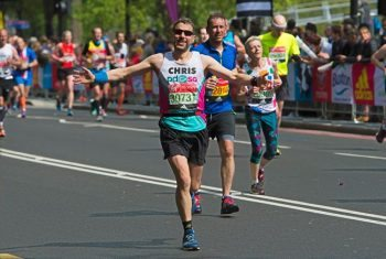 Chris Sherwood ran the London Marathon in 3 hours 36 minutes for PDSA.