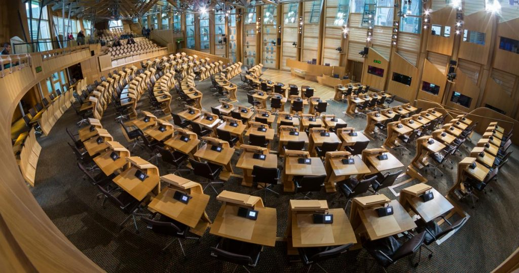 Scottish Parliament debating chamber. Image By © User:Colin/Wikimedia Commons, CC BY-SA 4.0, Link