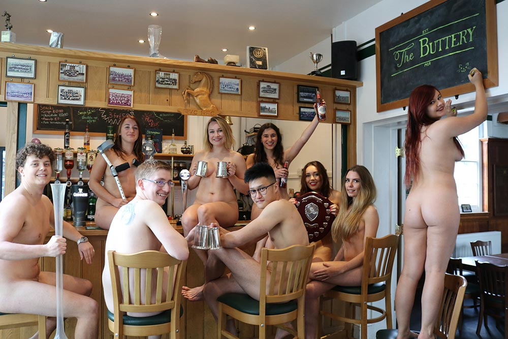 Bare ambition: college students strip for calendar
