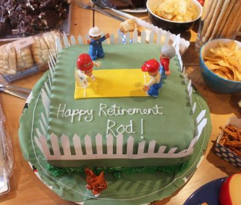 Vet greatly surprised by cricket-themed retirement get together