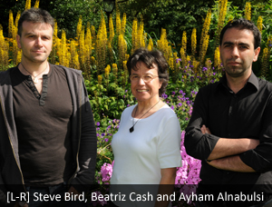VAb team [L-R] Steve Bird, Beatriz Cash and Ayham Alnabulsi