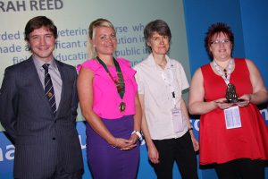 [L-R] James Yeates (head of the veterinary department at the RCVS), Louisa Baker (outgoing BVNA president), Caroline Reay (Blue Cross chief veterinary surgeon) and Sarah Reed.