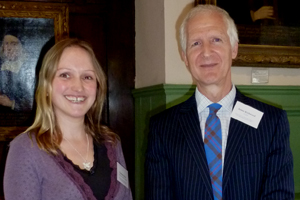 Dr Charlotte Burn with UFAW chief executive Dr James Kirkwood at the award presentation in York