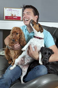 John Barrowman and his dogs