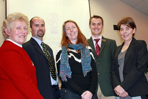 NAVP president Dr Sue Kempson, speakers Dr Peter Milner, Sandra Starke and Russell Guire, and NAVP chairman Halina Tombs.