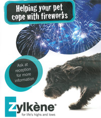 Zylkene materials include posters, stands and wall displays