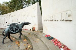 The service took place on Remembrance Sunday at the Animals in War Memorial in Park Lane.