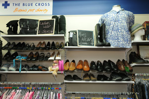 Each bag of unwanted clothes and bric-a-brac can generate around £20 of income for The Blue Cross. Pictured: Newbury's Blue Cross charity shop.