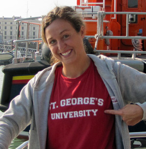 Brittany King prior to swimming the English Channel.