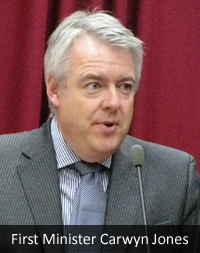 Carwyn Jones, the first minister of Wales. Image courtesy Lyn Dafis.