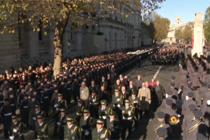 RSPCA staff also took part in the Cenotaph service on Remembrance Sunday.