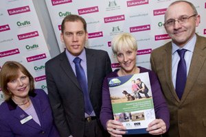 Caroline Kisko, Kennel Club secretary and communications director, Bruce Collinson from Whitehill & Bordon Eco-Town, Jo Hale from Hampshire County Council and Stephen Jenkinson, Kennel Club access advisor.
