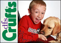 Sam and  his assistance dog Josie are in the running for the DFS Crufts Friends  for Life competition