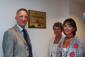 Professor White, his wife Christine and the Duchess of Northumberland officially unveil the new wing.
