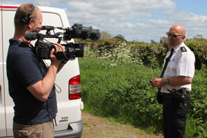 An RSPCA inspector speaks to camera as Channel 5 follows the charity's worl.