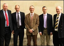 DVS shareholders (L-R) Jerry Davies, Richard Whitelock, Clive Elwood, Nat Whitley and Mike Thomas
