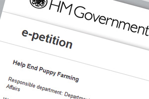 e-petition to help end puppy farming