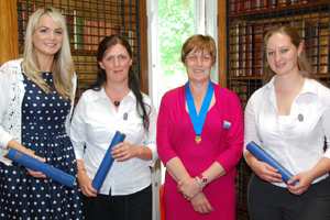 Natalie Fisk, Kate Lomas, Myerscough's Kathy Kissick and Marie