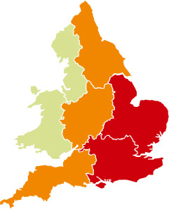 Areas currently on alert for floods. Image courtesy Environment Agency website.