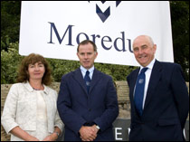 L-R: Prof Julie Fitzpatrick (chief executive), Gareth Jones and John Ross (chairman) of the Moredun Foundation