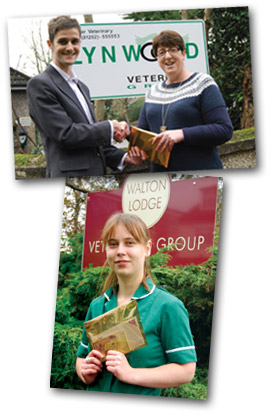 Golden Ticket winners Christine Pierce (top, with Ian Morris of VBD) and Naomi Forsdike.