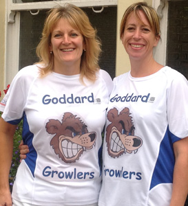 [L-R] Growlers team members Philippa Davies and Lisa Cooper