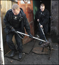 Inspectors in action during Operation Snape