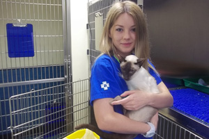 Jade is attempting to raise more than £4,000 for the Worldwide Veterinary Service.