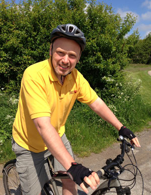 Jim Morris is taking on the off-road version of the classic London to Paris cycle route in June.