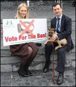The Kennel Club was in  Cardiff to witness the motion to approve the ban