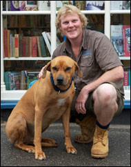 WVS founder and chief executive Luke Gamble with his Rhodesian ridgeback Leuwen