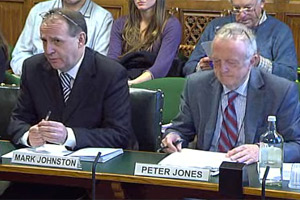 Mark Johnston of the BSAVA and Peter Jones of the BVA during the evidence session