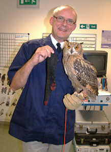 Neil Forbes and Lydon the Owl.